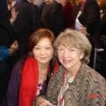 President Elsa Wong and the wife of the former Prime Minister Paul Martin